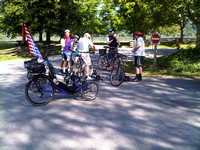 Group ride stop at Derby Reach